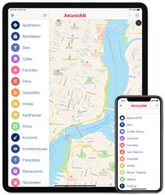 AroundMe | iPhone, iPad and Android App to quickly find